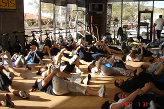 STUDENT GROUP TRAINING CONDITIONING PERSONAL TRAINING IN PHOENIX
